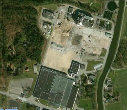 aangekochte locatie en warmtekrachtcentrale